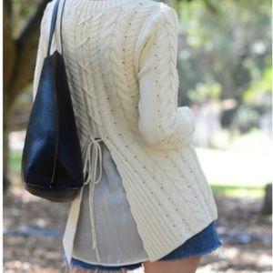 CAbi Tie-Back Sweater
